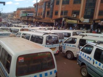 Matatus in Kampala